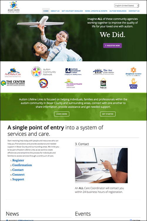 Non-profit medical web design by local digital agency