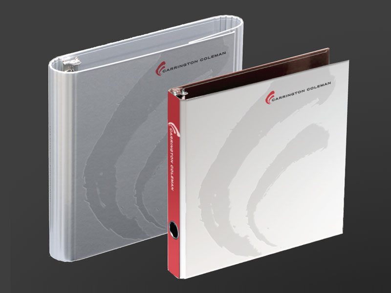 Law stationery and branding folders by local agency.