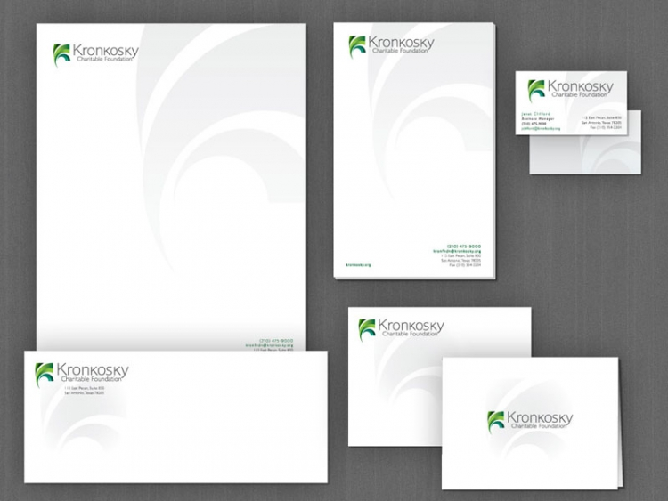 Logo, stationery, and brand package for San Antonio foundation