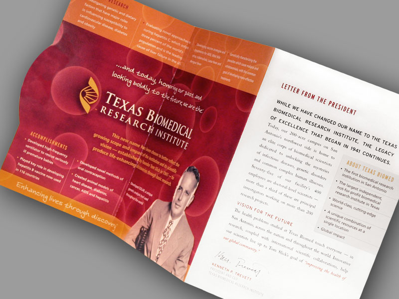 Design Print campaign for charitable giving by San Antonio design firm